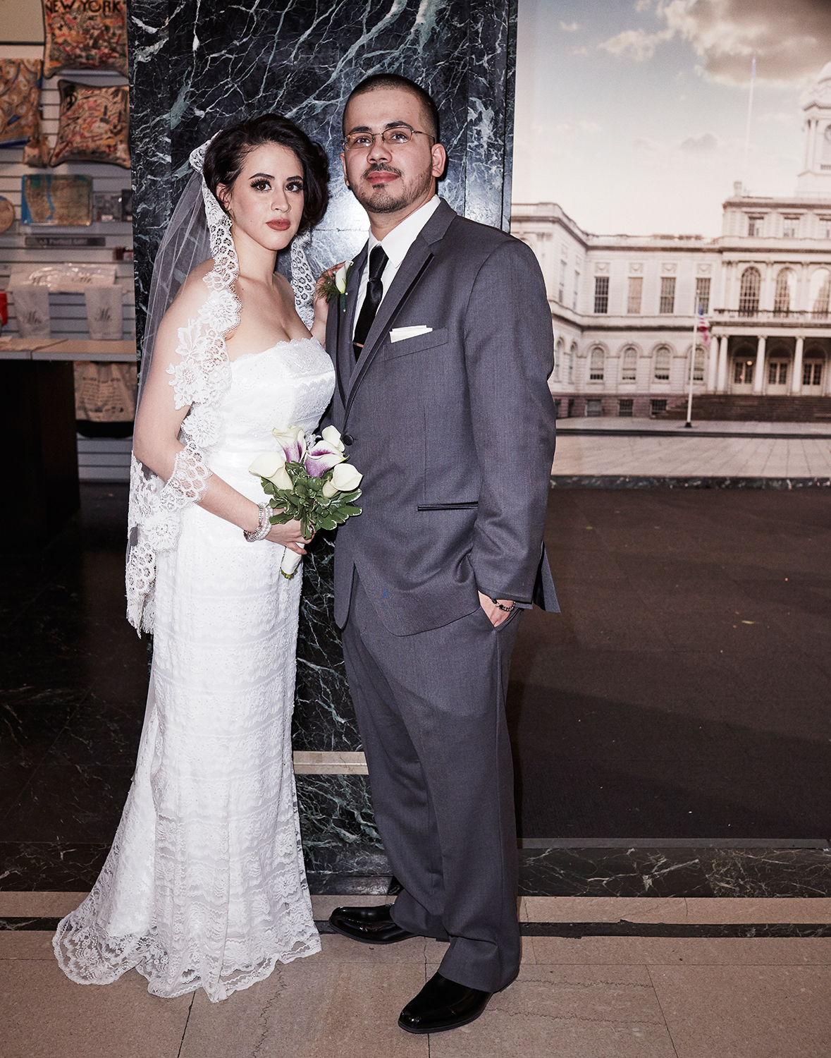 Madelin and Christopher just married at the City Clerk's Office, Manhattan Feb. 12th, 2016, Yahoo Style Feature Feb 2016