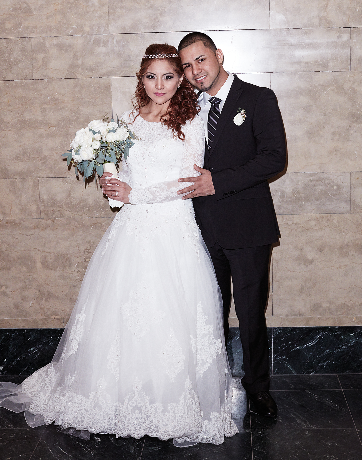 Jessy and Renzo, just married at the City Clerk's Office, Manhattan Feb. 12th, 2016, Yahoo Style Feature Feb 2016