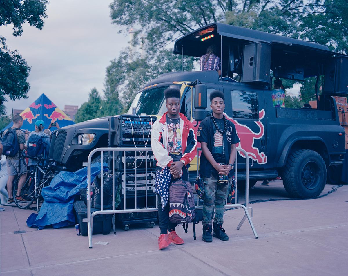 "Deseam Henderson and Shamar Samuel,AfroPunk Festival 2014, Brooklyn, Yahoo Style ""The Originals"""
