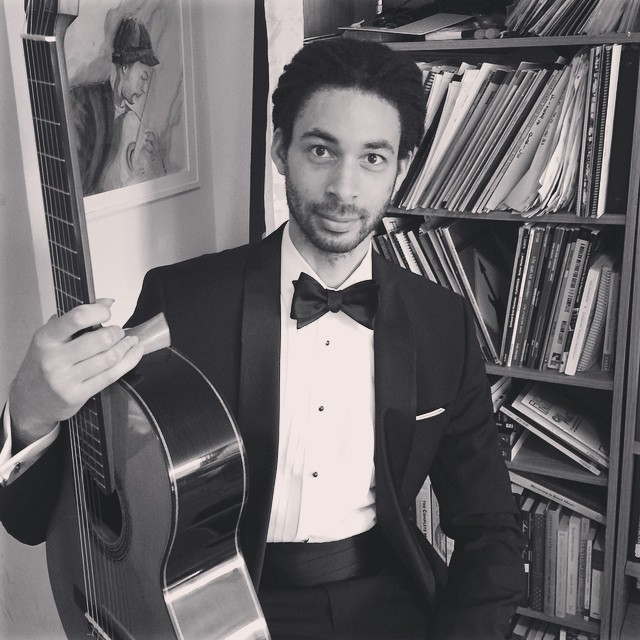No matter what happens tonight, my greatest achievement will remain having tied my own bow tie. Here we go! #classicalguitar #concert #blacktie #tuxedo (at Mahattan New York City)