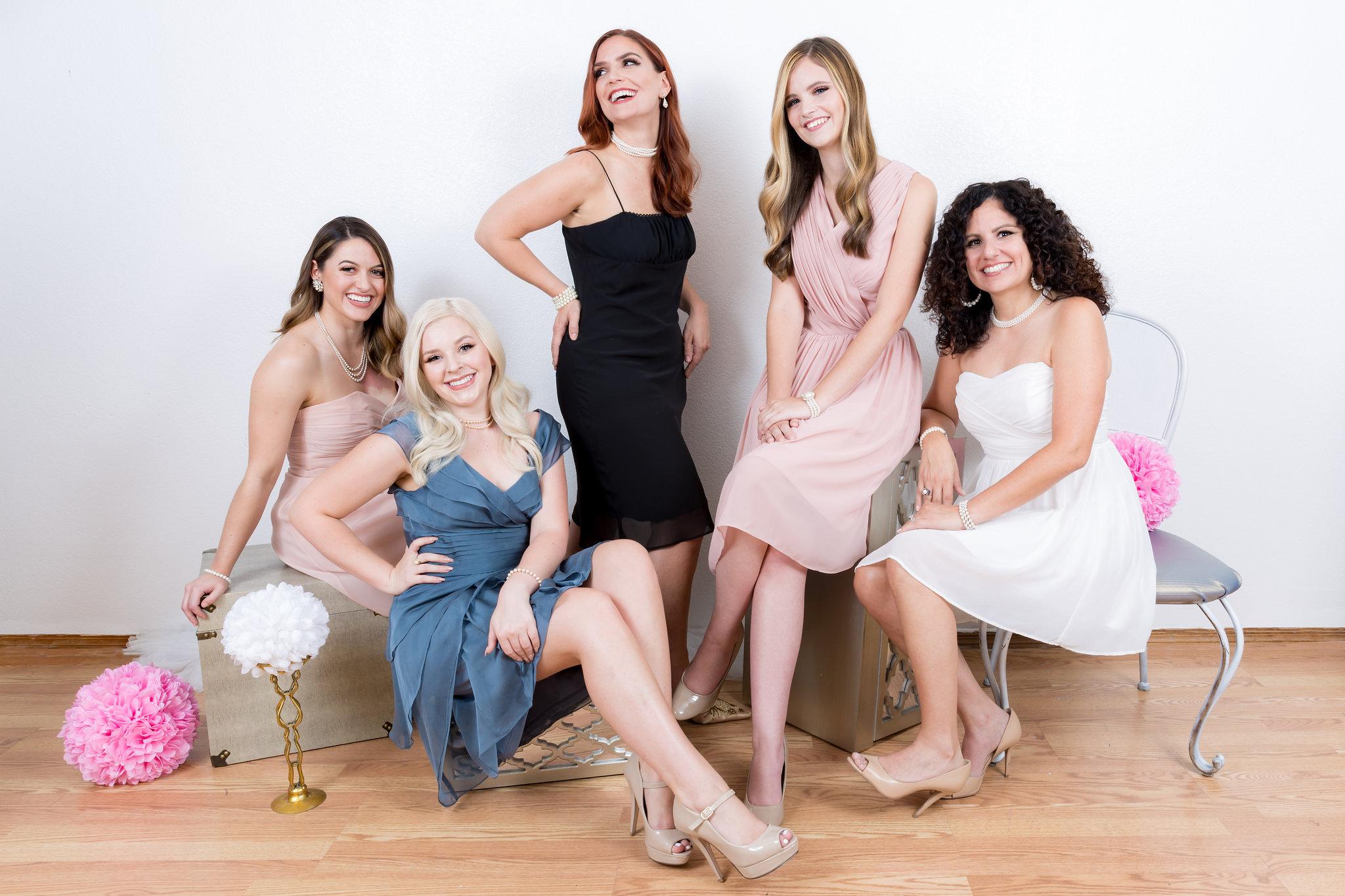 MOZZIE FOX GIRLS (actual clients)    Lydia, Kelli, Melissa, Mckenna, and Cher