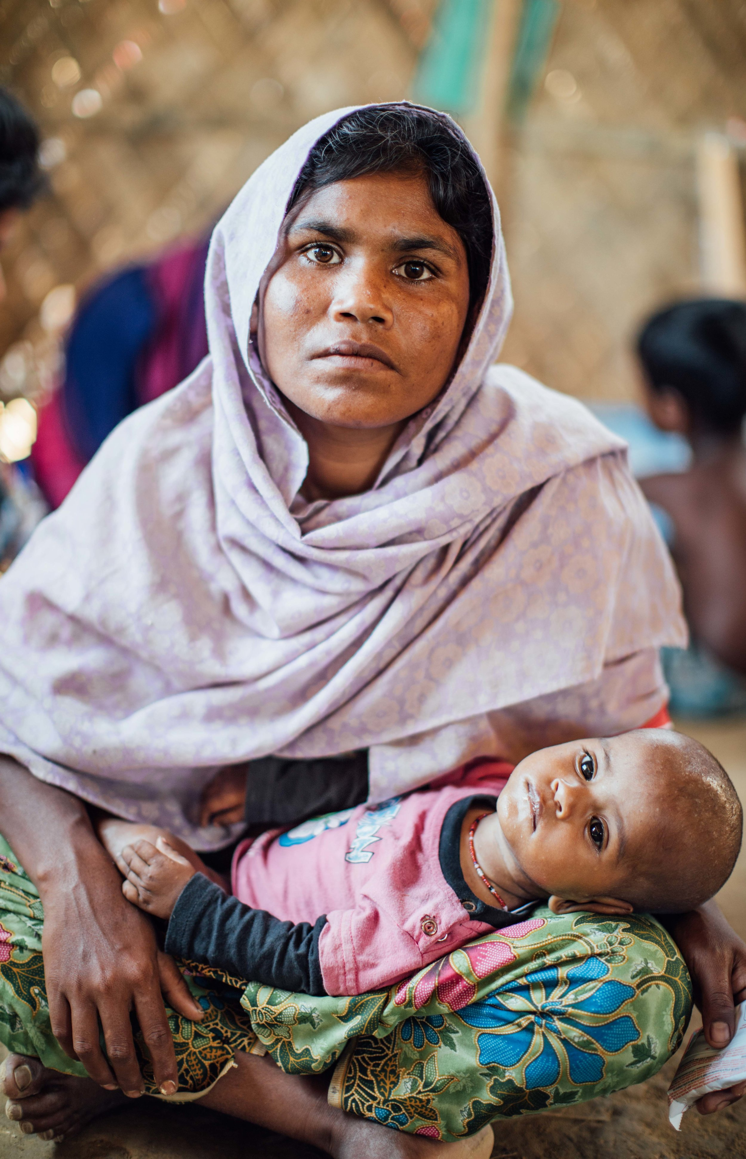 MOTHER WITH MALNOURISHED CHILD AT SAVE CLINIC-1.JPG