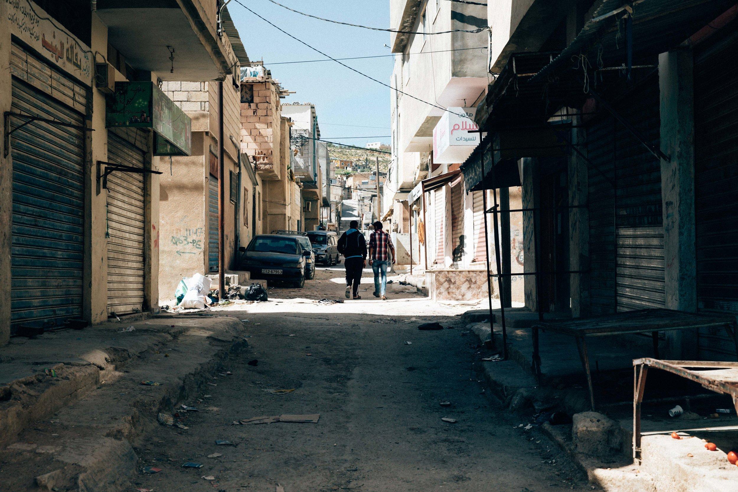 UNRWA JERASH CAMP, THEY WALK.jpg