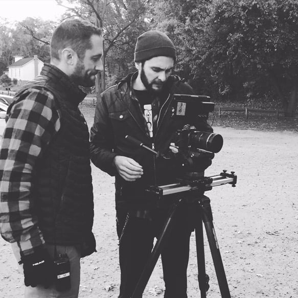 Director Jeremy Pinckert and DP Jamieson Mulholland on Set for Jayco RV