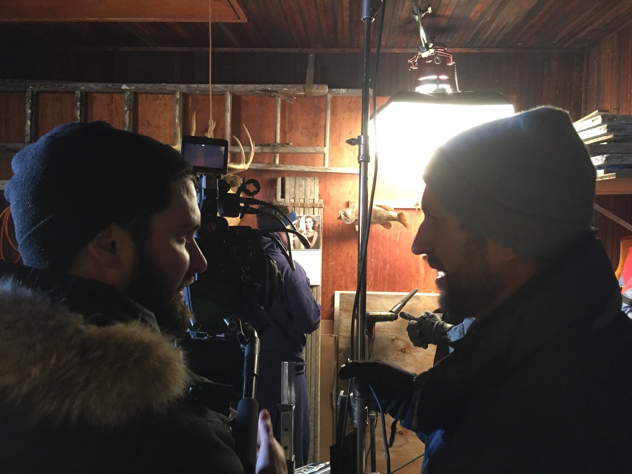 Director Jeremy Pinckert and DP  Jamieson Mulholland discuss the perfect angle.