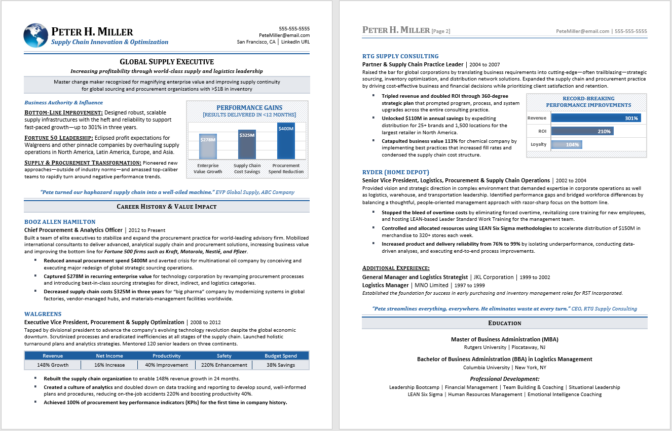 resume samples  u2014 compelling resumes