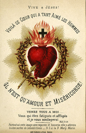 Catholic Card, circa 1880. Auguste Martin Collection, University of Dayton Libraries