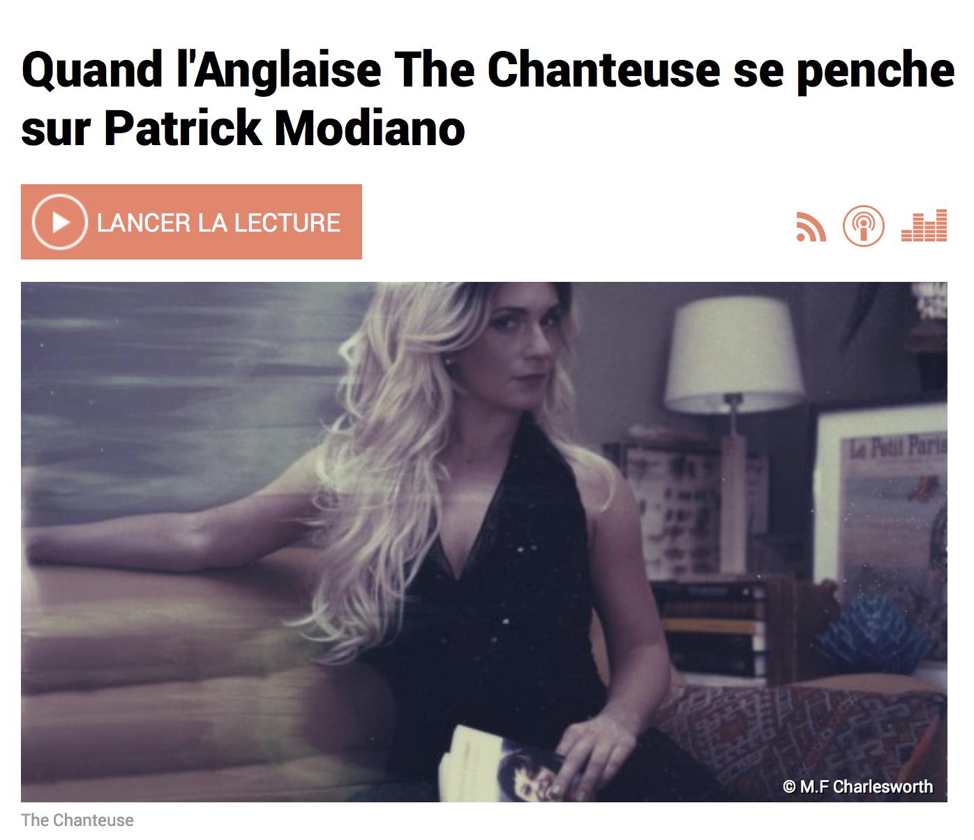 RFI modiano the chanteuse