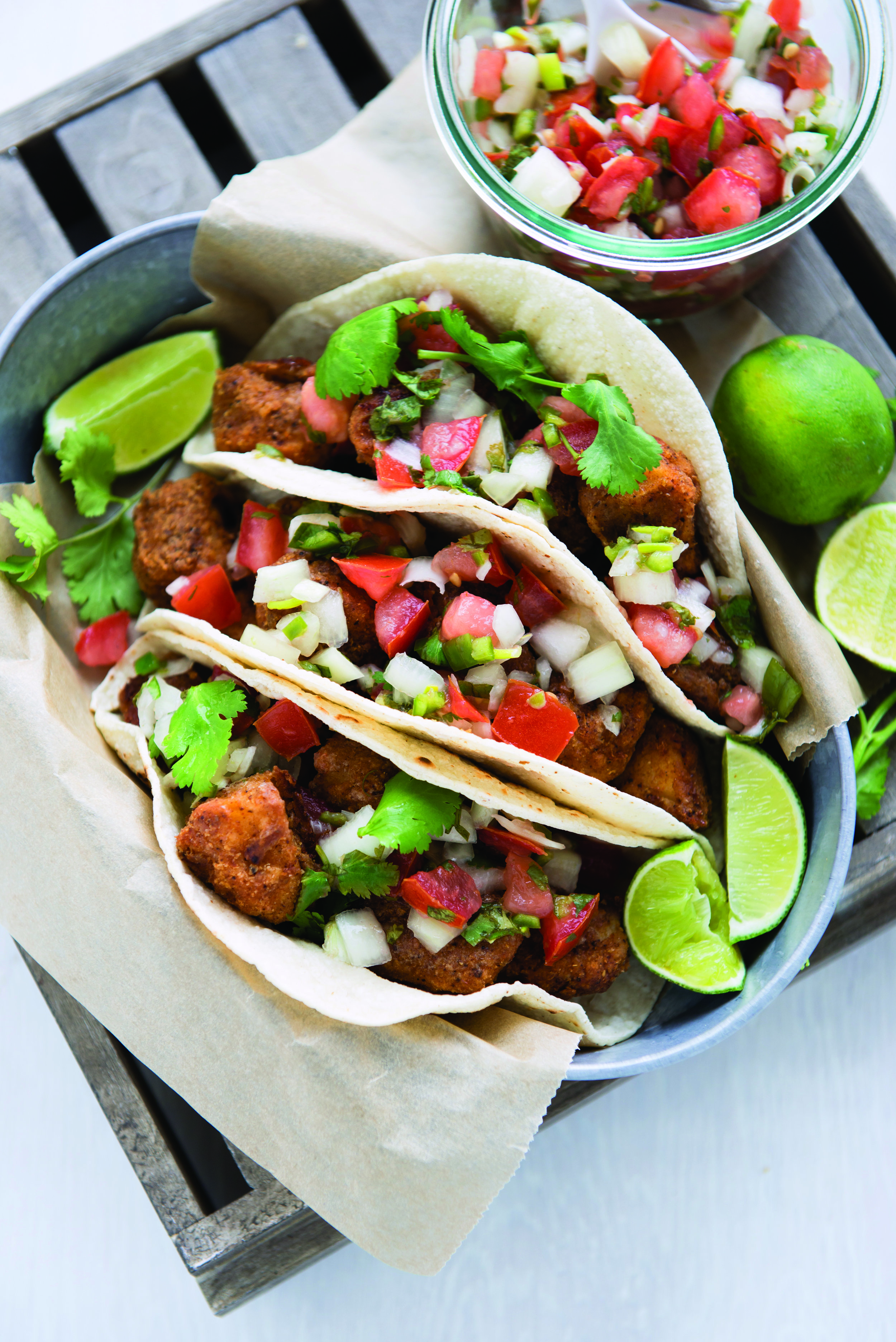 EASY FISH TACOS. Photo provided by Lisa Leake