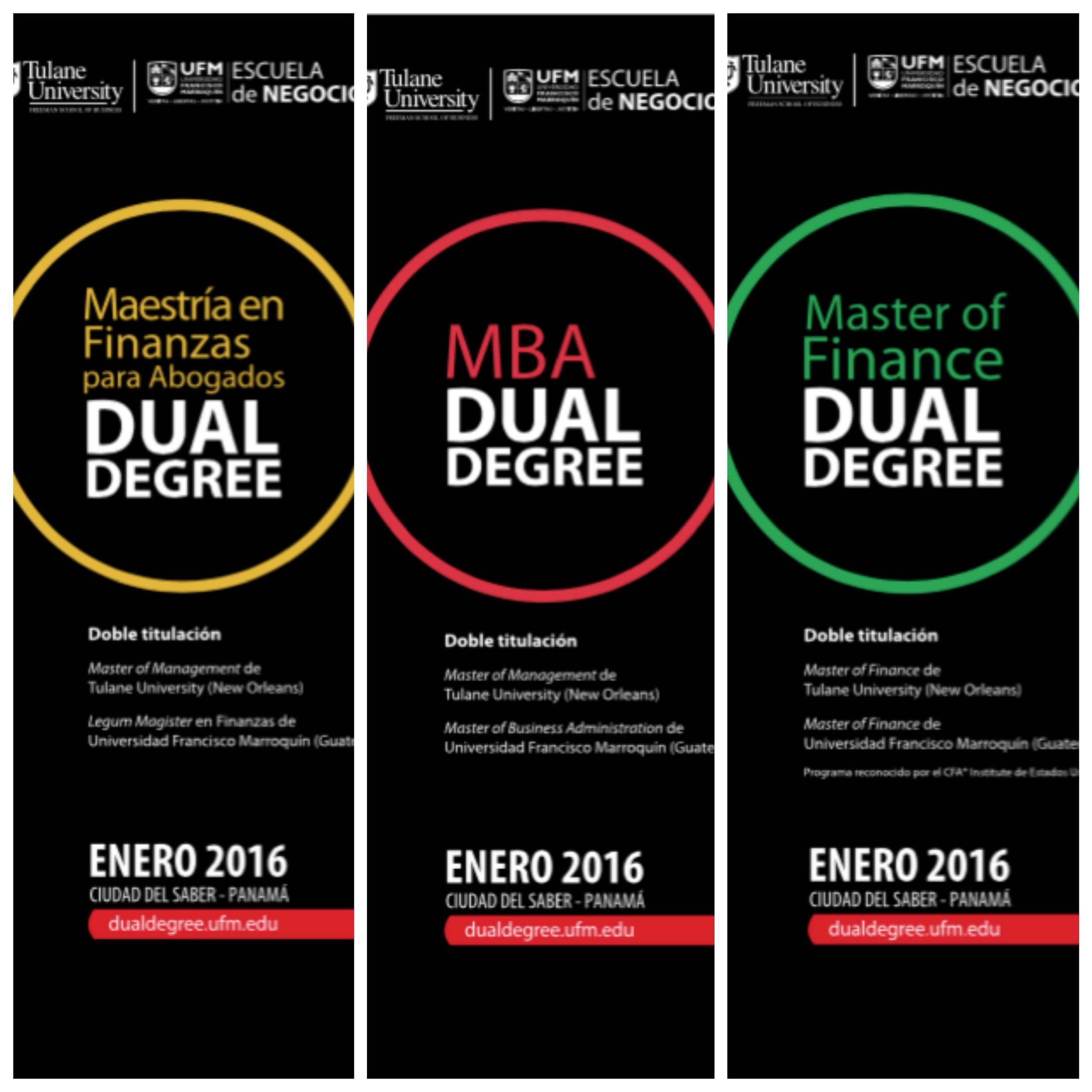 Printed Campaign for the release of Dual Degree Master's Programs in Panamá in 2015 (Roll Ups)