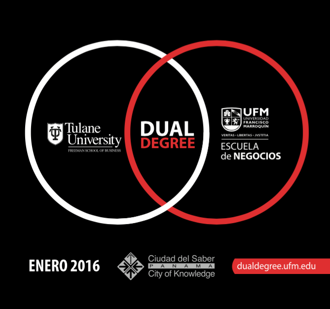Printed Campaign for the release of Dual Degree Master's Programs in Panamá in 2015 (Backing)