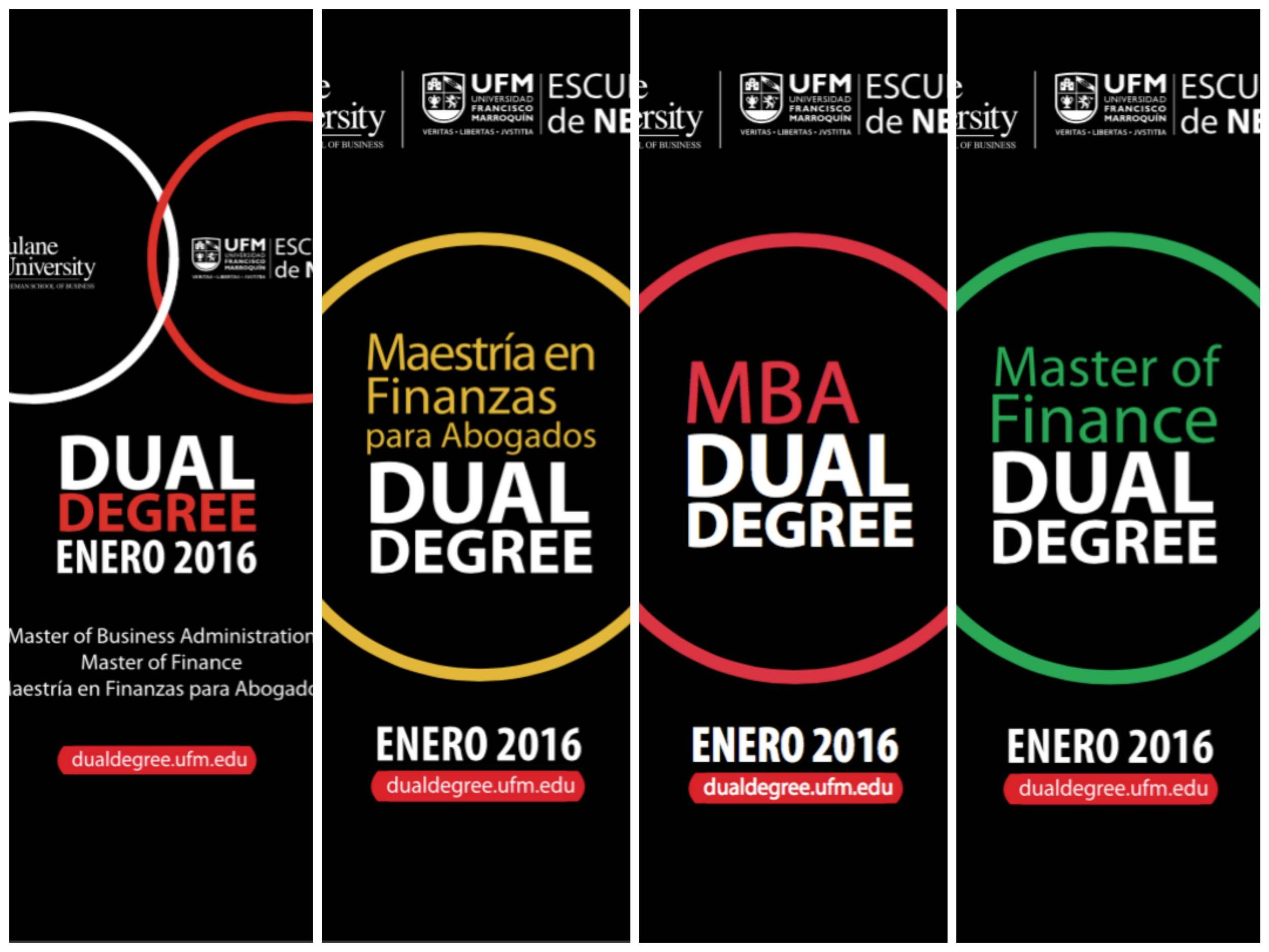 Printed Campaign for the release of Dual Degree Master's Programs in Panamá 2015 (Urban Signing / Mupis)