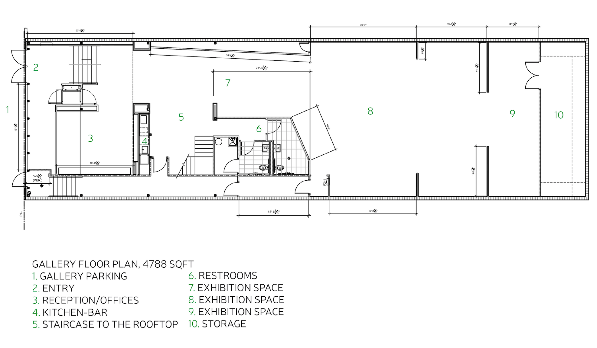 First Level Floor Plan.