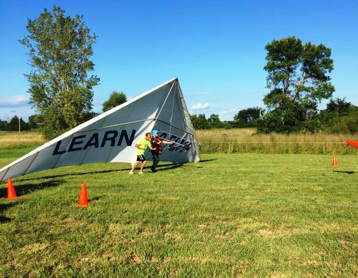 First Flights on a Hang Glider