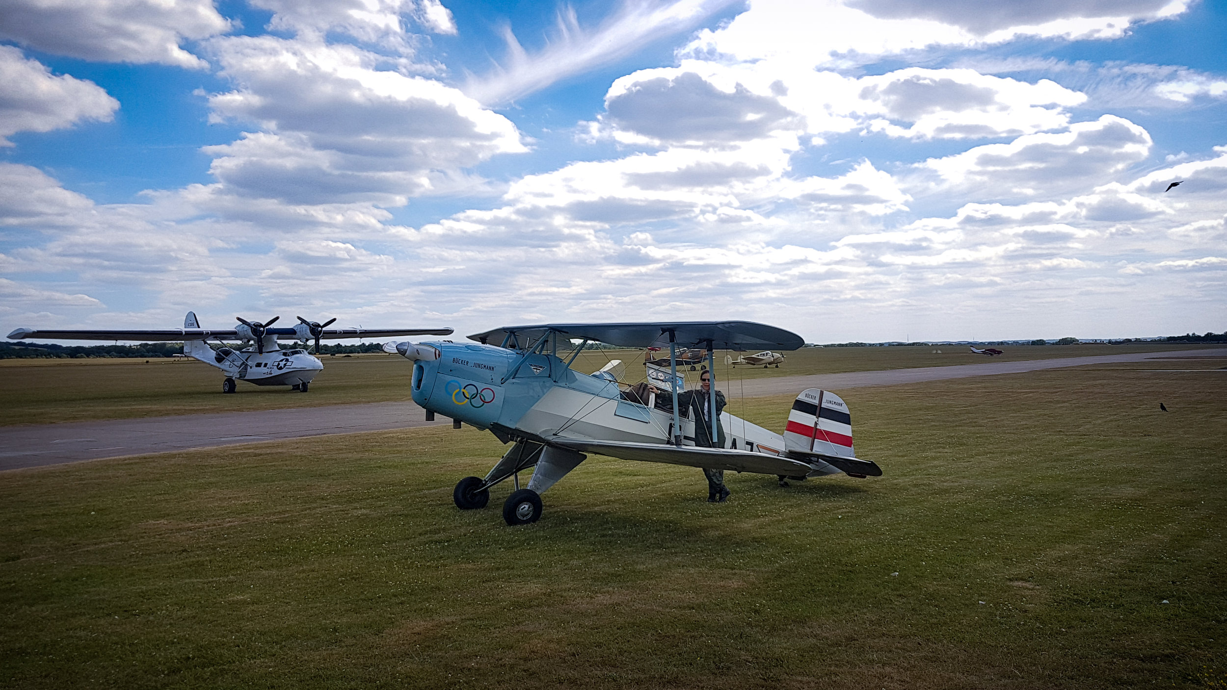 Bucker Bu-131 with pilot Anna