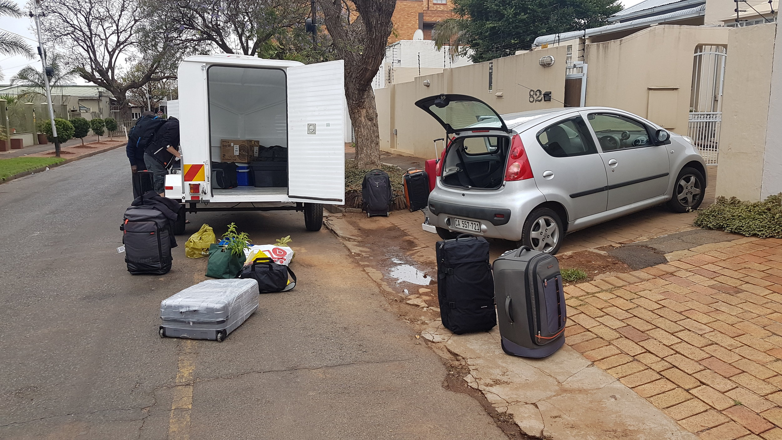 Preparing for the trip from Jo'burg to Mmabolela
