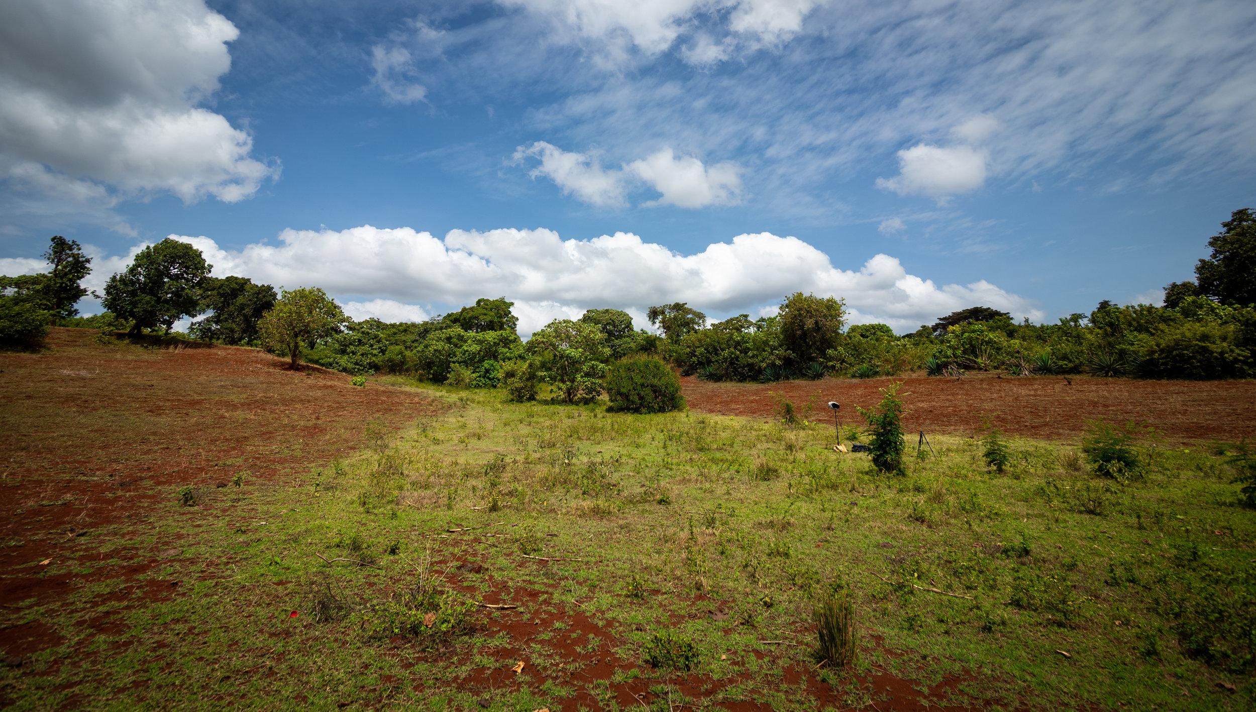 Field recording distant village life