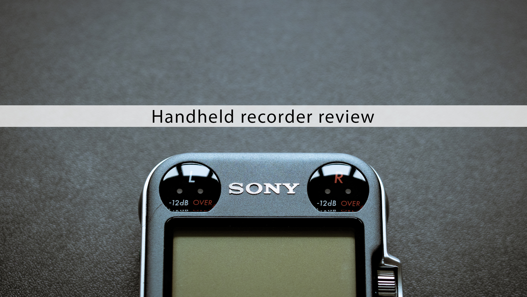 Sony PCM M10 handheld recorder