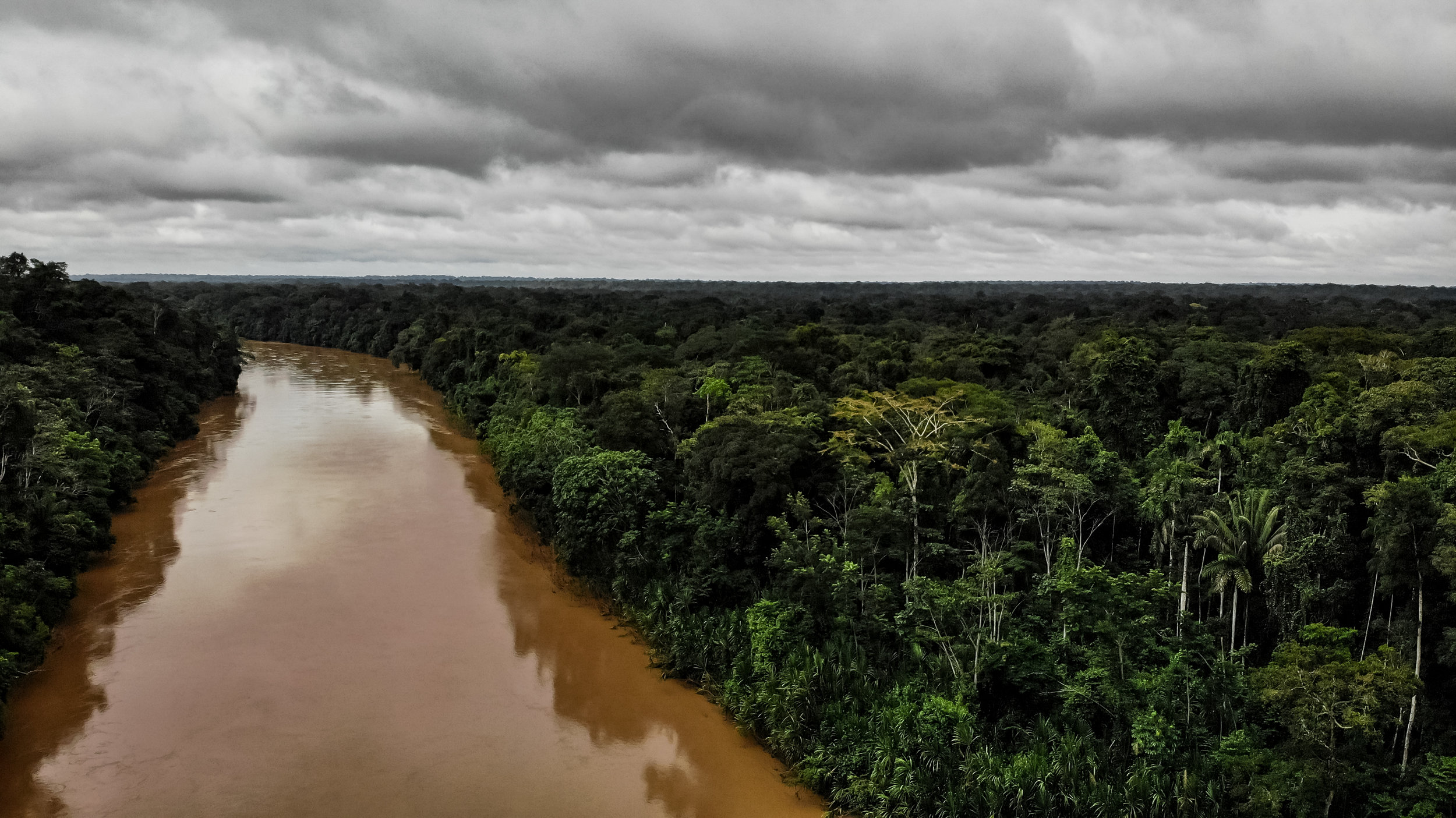Las Piedras river on a cloudy day