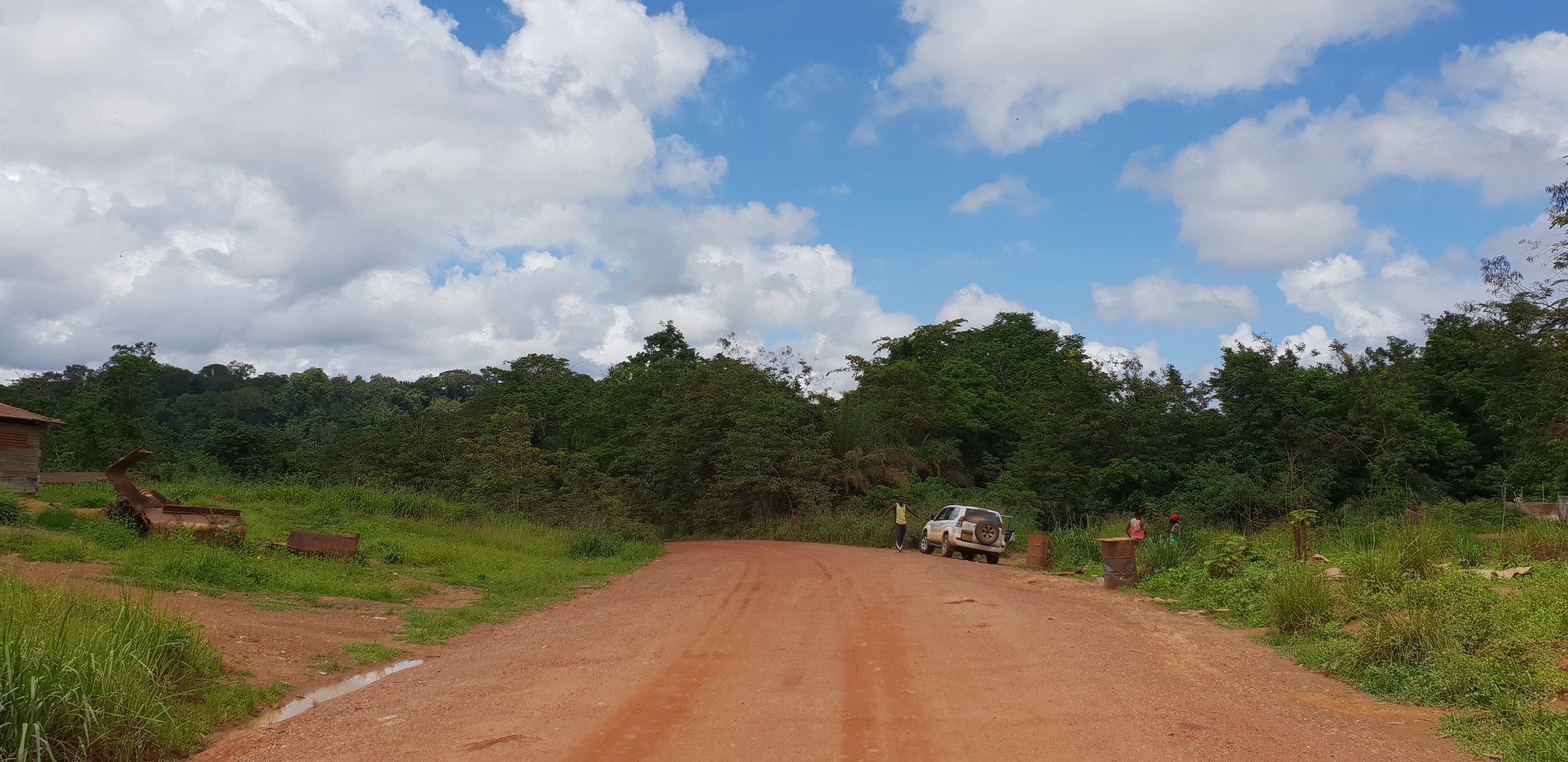Mikongo village in Gabon