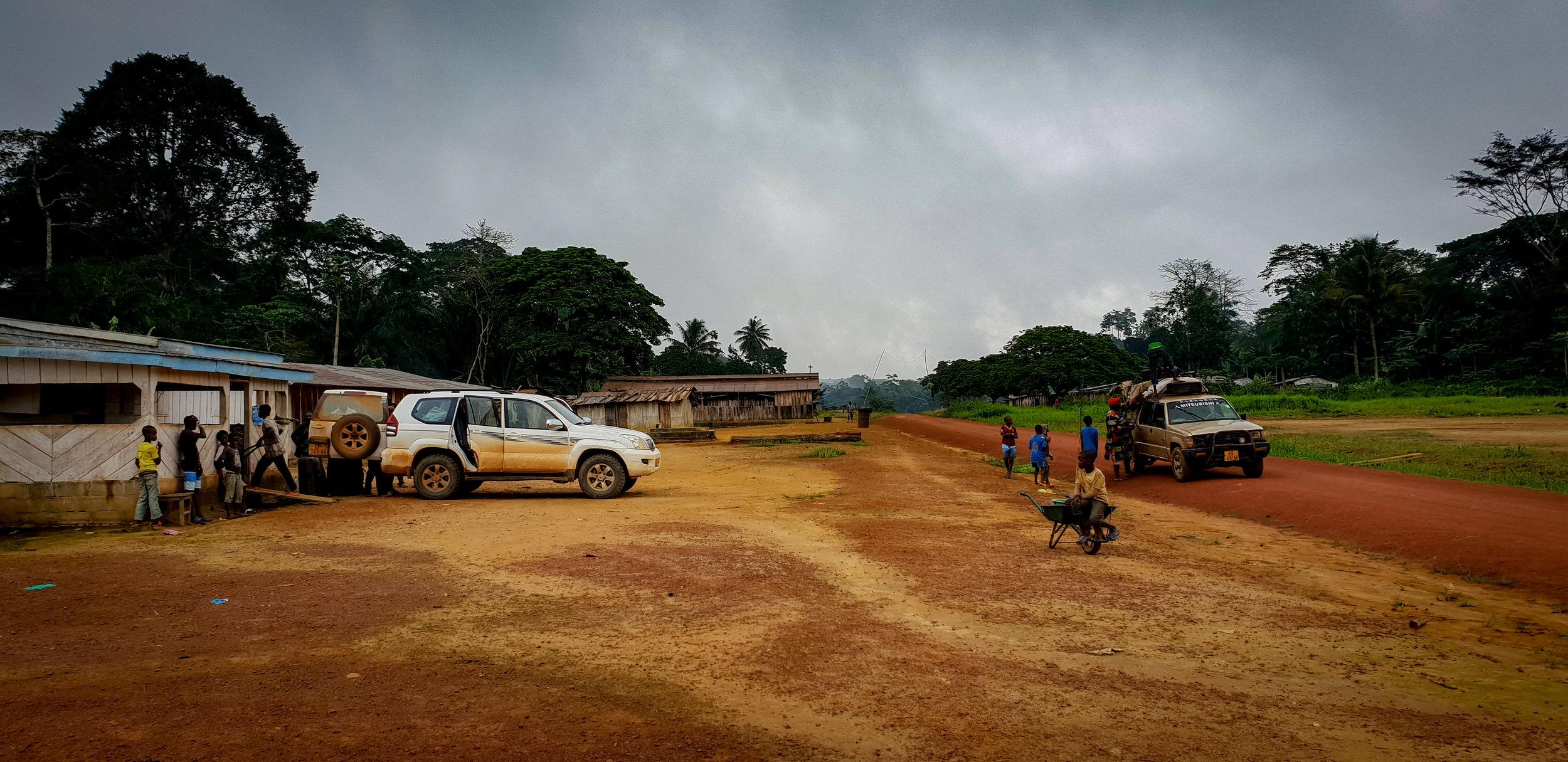 Overcast morning in Mohoba village