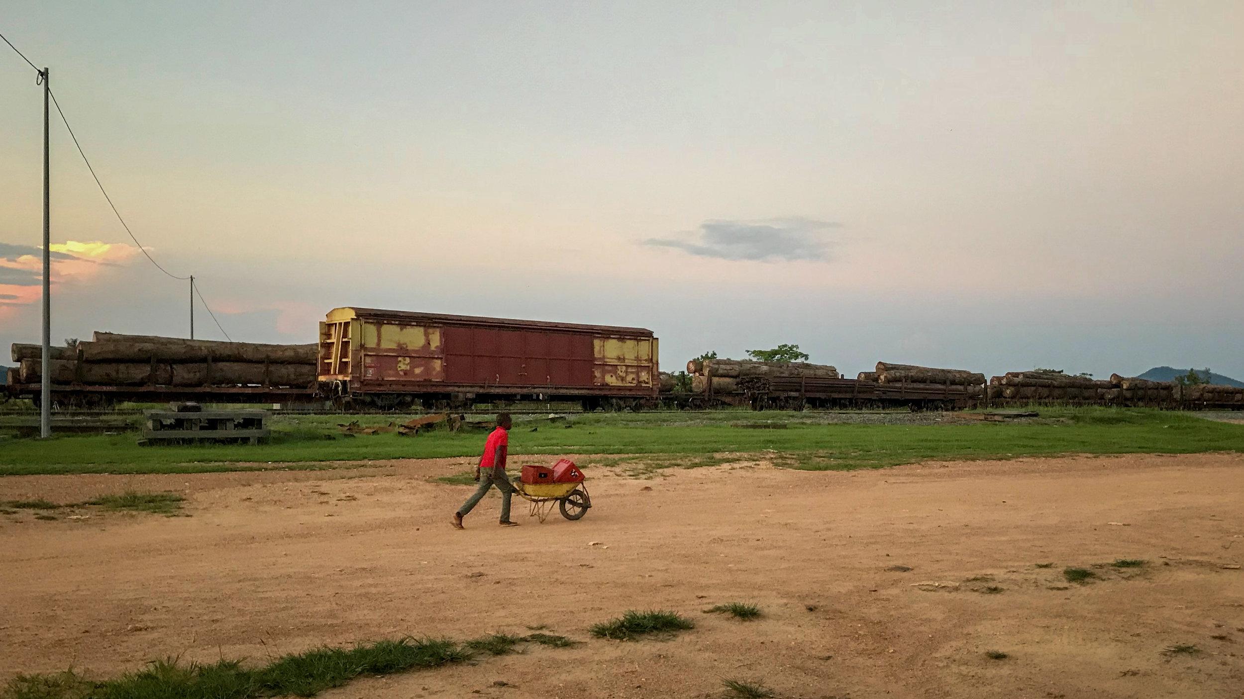 Trains at Lope village