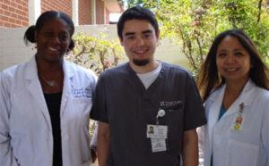 Teachers Yowanda Salter (L) and Letitia Babaran-Wang (R) with Pharmacy Technician Marc Pomerleau