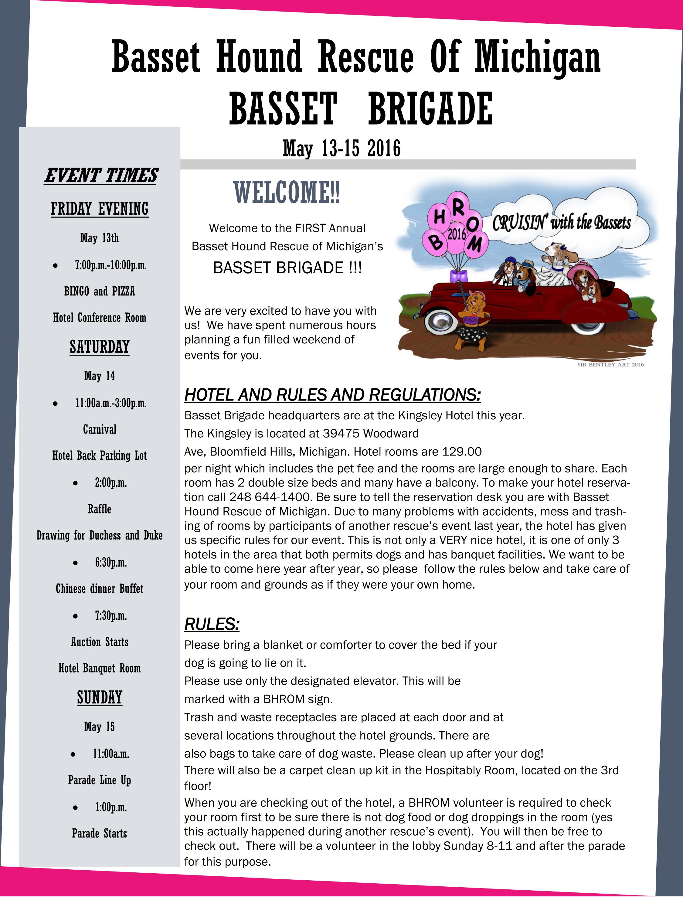 Basset Brigade - Newsletter - Page 1