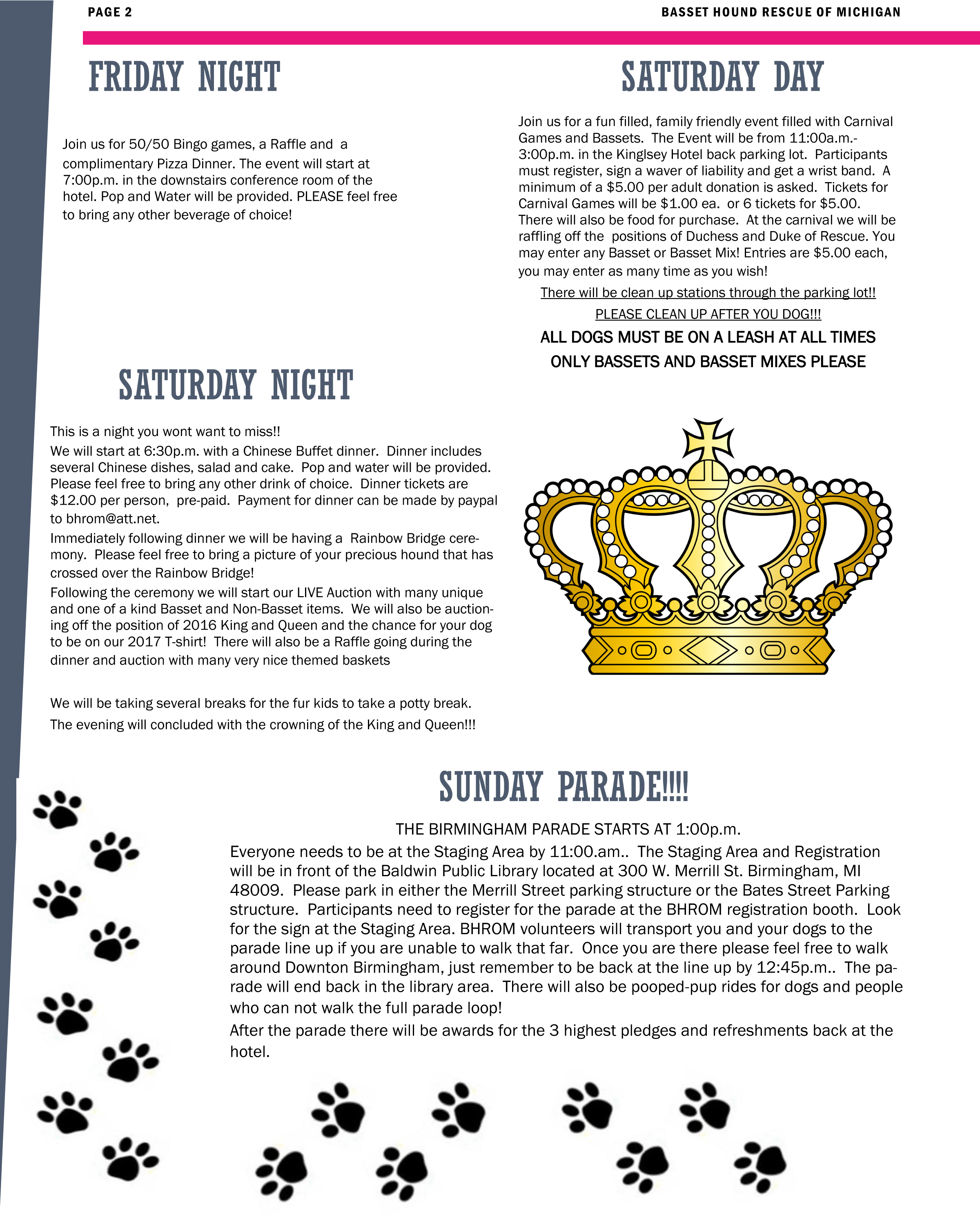 Basset Brigade Newsletter - Page 2