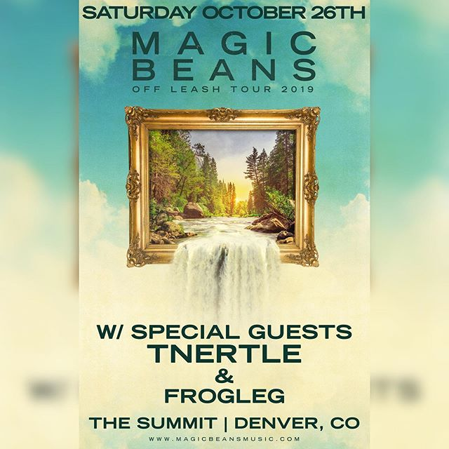 We're so excited to announce our first show at at The @summitden supporting our good friends The @themagicbeans w/ @froglegmusic on Sat. Oct 26th!! . . . #tnertle #tnertlemusic #magicbeans #summitdenver