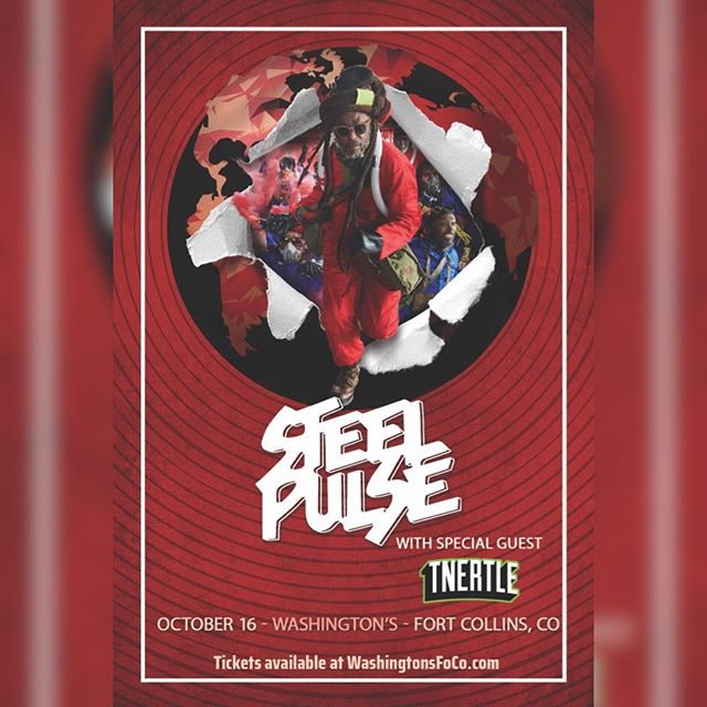 Get your discount $15 tickets for our show with @steelpulseofficial next Wednesday at @washingtonsfoco  Go to Washington's ticketing page and enter the password tnertle for your tickets!! - - - #tnertle #tnertlemusic #steelpulse #reggaemusic #electronicmusic #fortcollinselectronic #discounttickets #washingtonsfoco