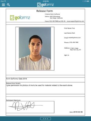 GoFormz Release Form Template