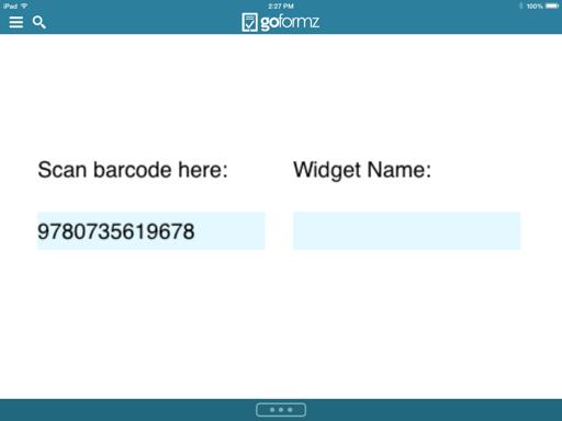 Set up Barcode Field
