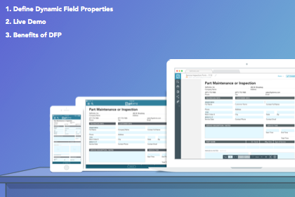 Dynamic field properties can make your fields required, change their background color, and more!