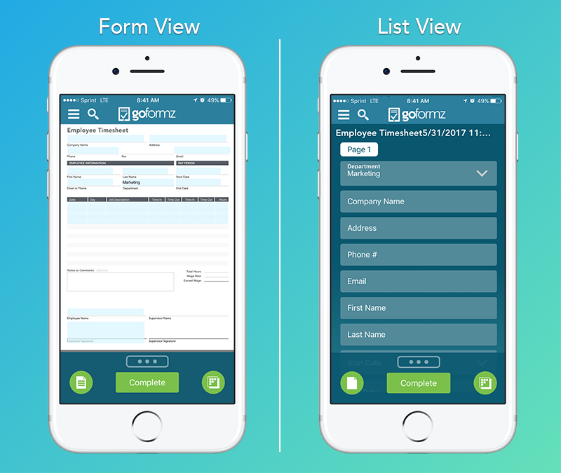 List View vs Form View
