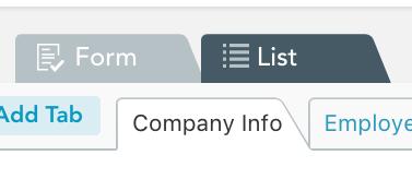 List view tab
