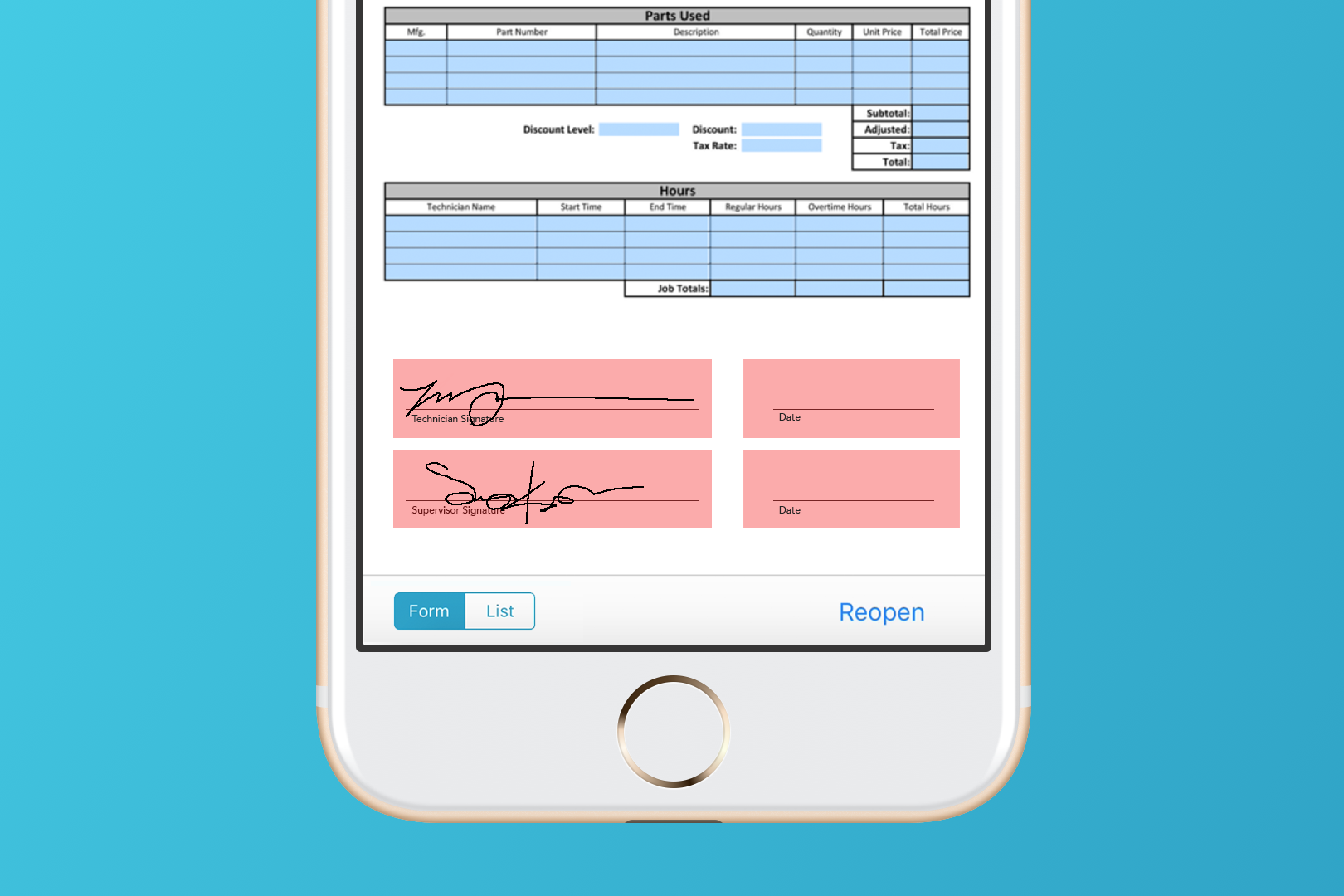 Add a signature box to your mobile forms.