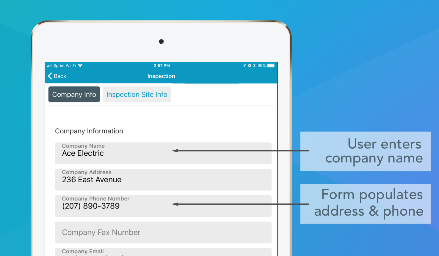Conditional logic allows your mobile forms to populate corresponding fields.