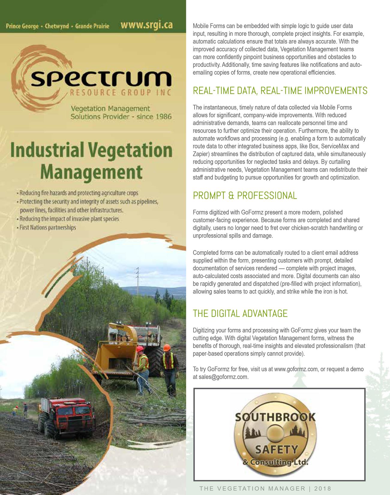 Vegetation Manager Magazine highlights GoFormz - Page 2