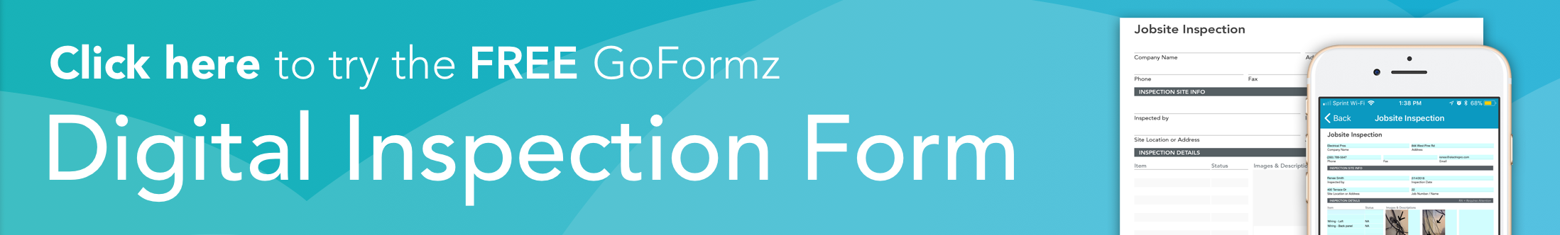 Click here to try the free GoFormz digital inspection form