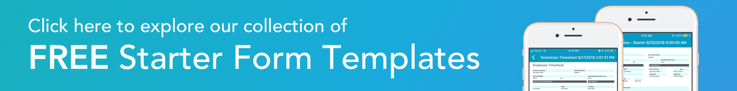 Click here to explore our collection of Starter Form Templates (free to use in your account!)