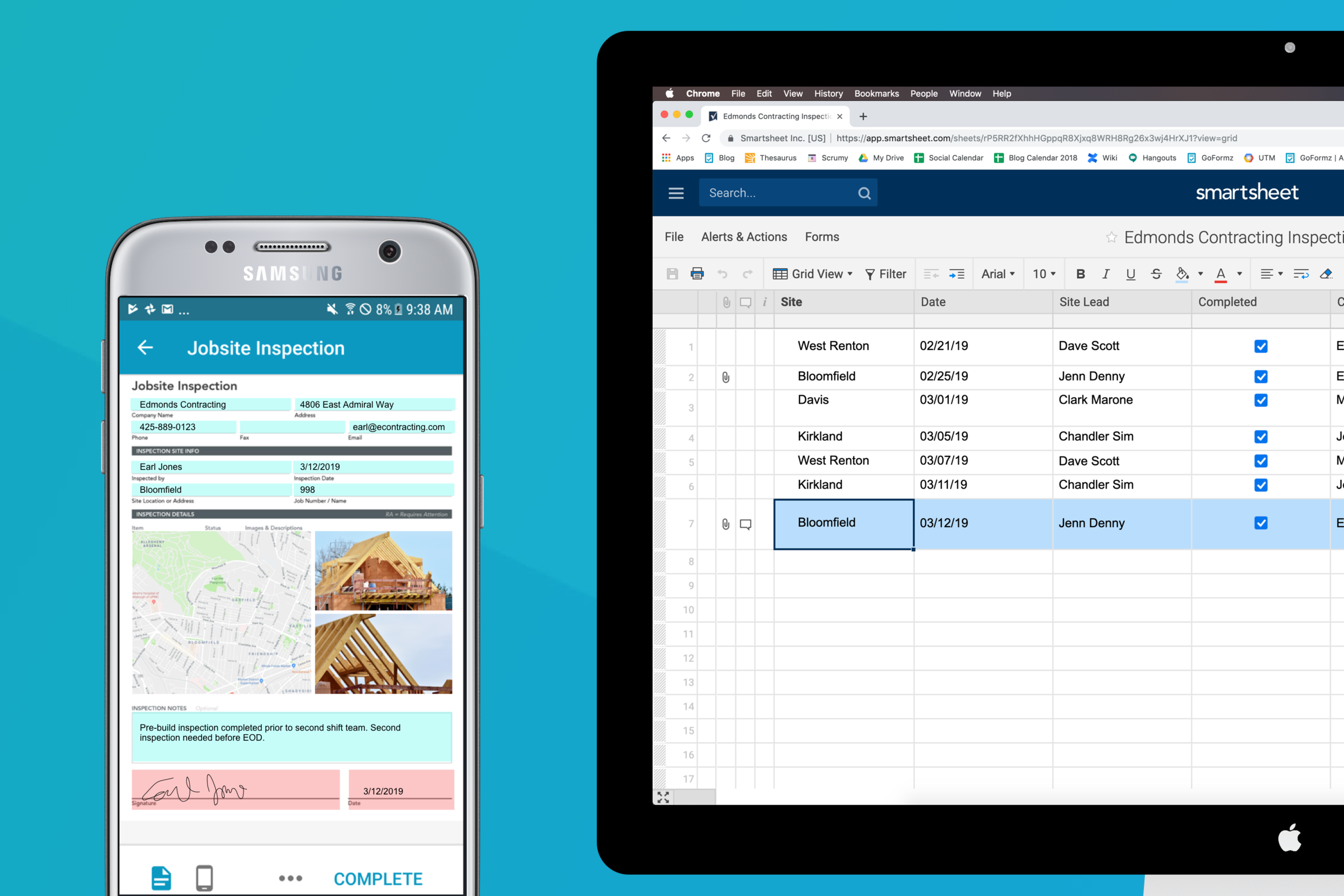Integrate your GoFormz mobile forms with Smartsheets