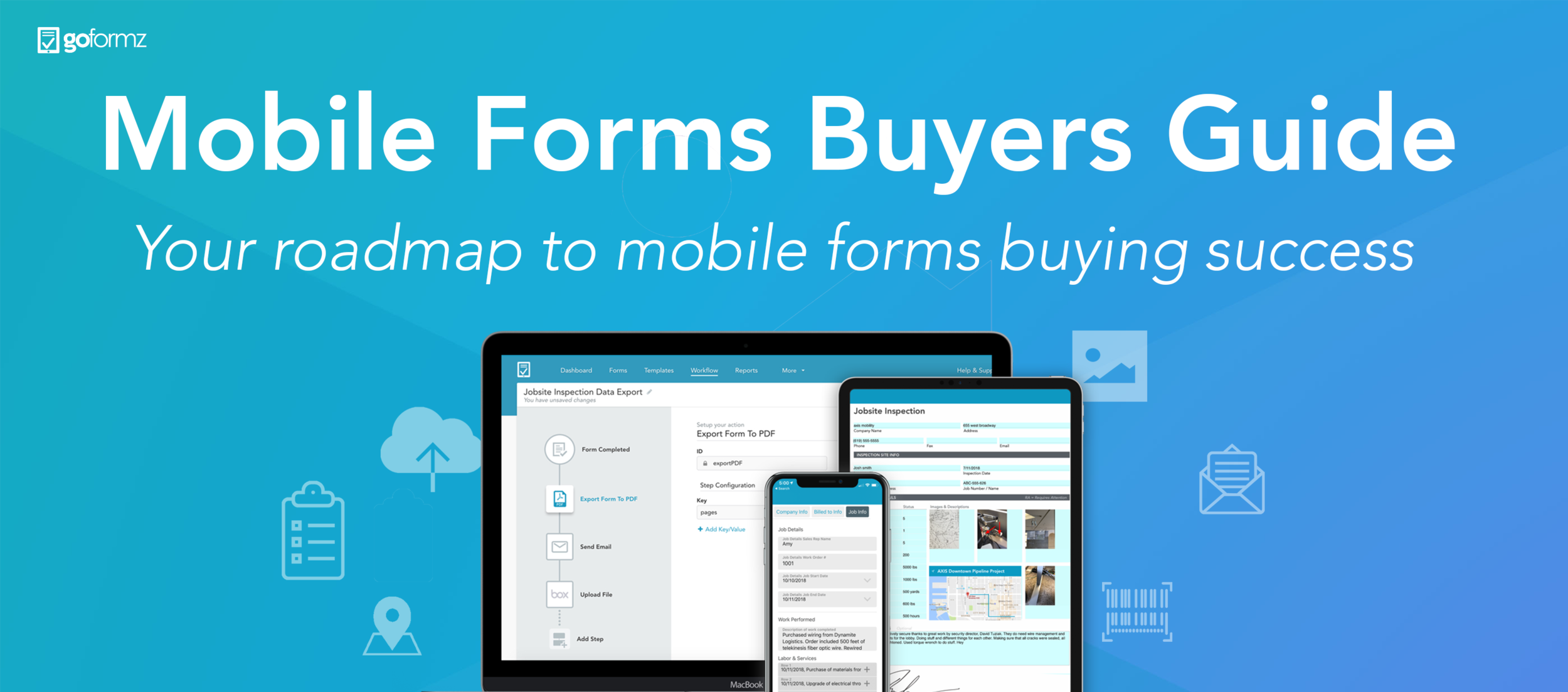 The mobile forms buyers guide will walk you through the mobile form fields and features to look for when selecting your data capture platform