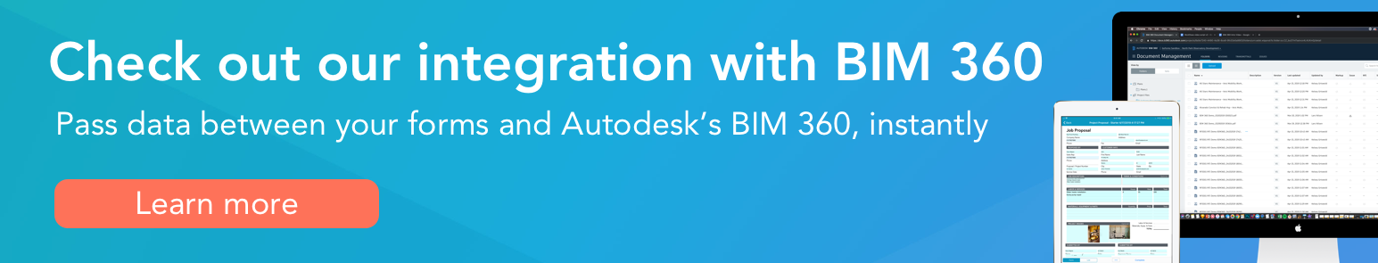 Click here to learn more about our BIM 360 integration