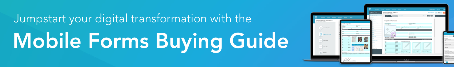 Banner text: The Mobile Forms Buying Guide