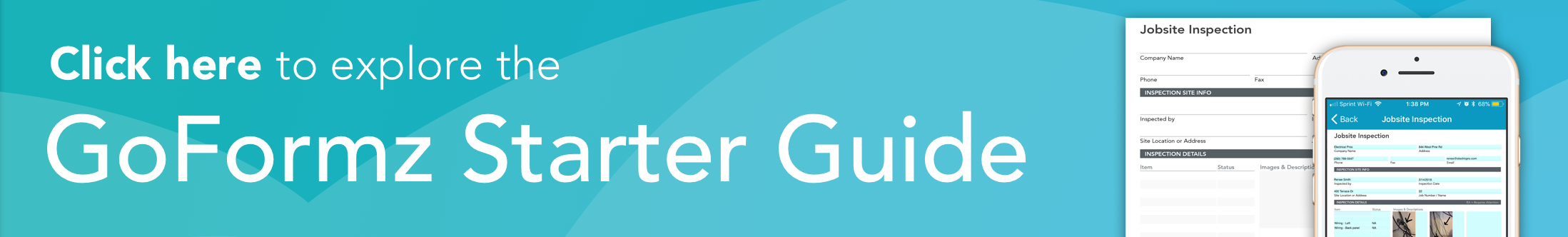 Banner: Click here to explore the GoFormz Starter Guide