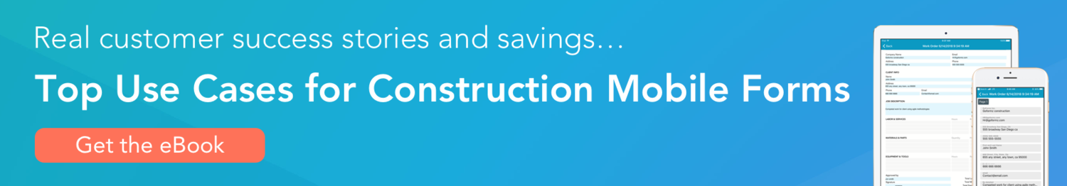 Top use cases for construction mobile forms