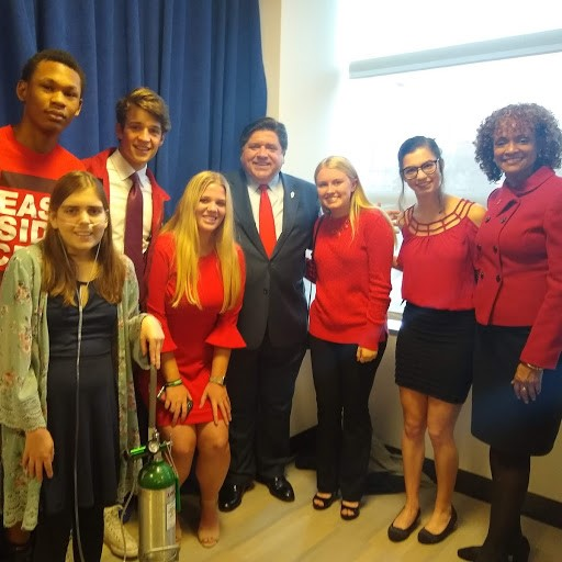 Reality Students attend the signing of the Tobacco 21 law with Governor Pritzker