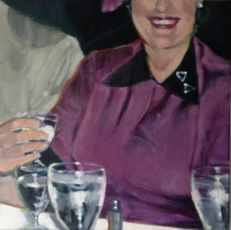 """Woman with Brooch , oil on canvas, 24"""" x 24"""", $1,850"""
