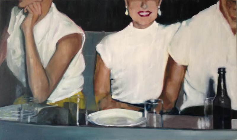 """Two Plus One , oil on canvas, 36"""" x 60"""", $5,600"""